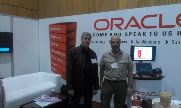 Joel Goodman and Uwe Hesse at the OUG Ireland Conference 2014