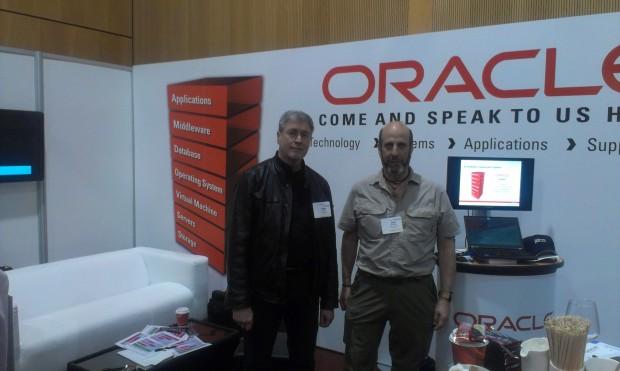 Joel Goodman and Uwe Hesse at the OUG Ireland Conference 2014