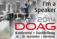 Speaking at DOAG 2014 Annual Conference
