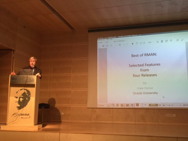 Uwe Hesse speaking in Istanbul