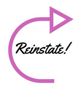 reinstate