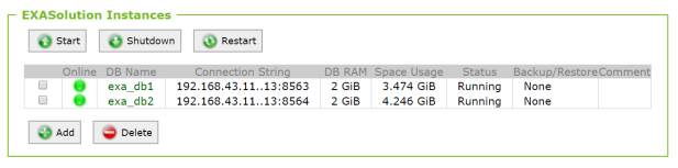 Two databases in one cluster