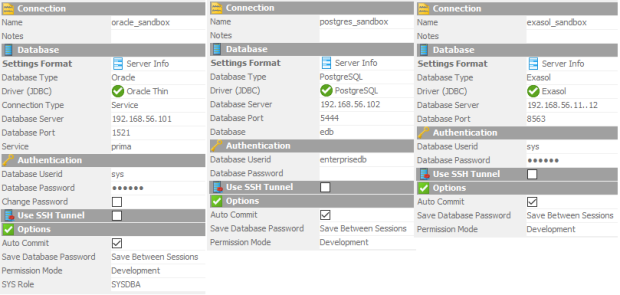 Using DbVisualizer to work with #Oracle, #PostgreSQL and